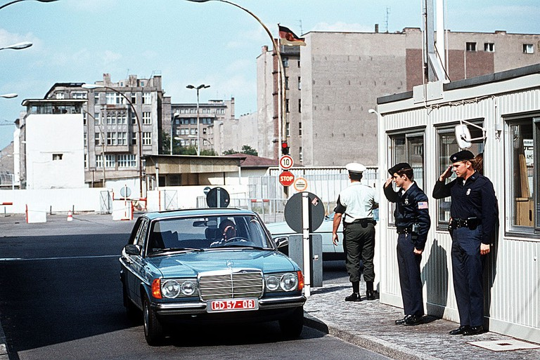 Guards Salut at a Checkpoint