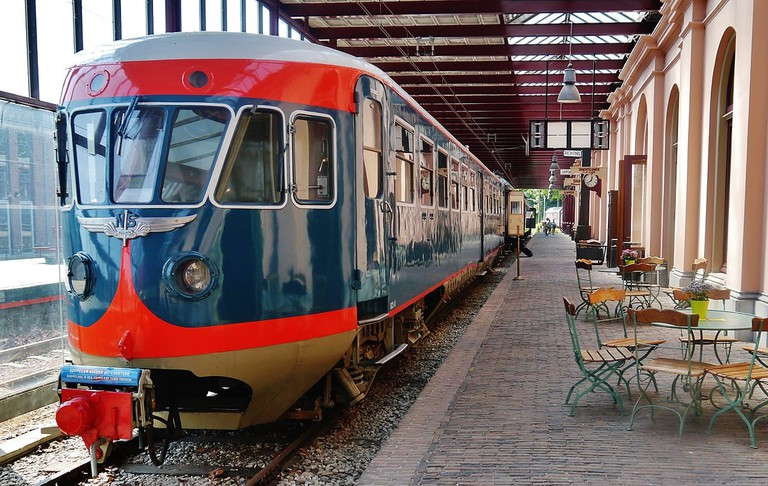 An old train in the museum
