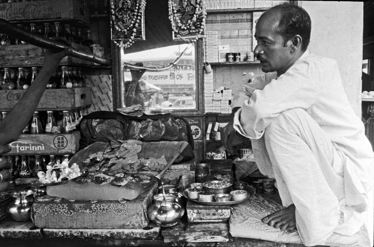 Paan masalas are usually sold in paan shops like this one