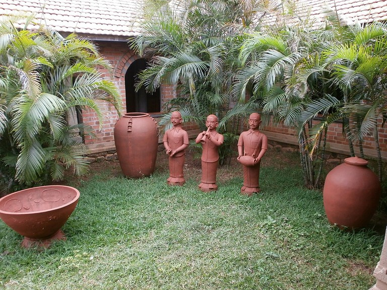A pottery art installation at DakshinaChitra Heritage Village in Chennai