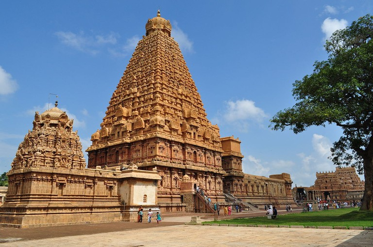 At 66 meters, the Gopuram of Thanjavur's Brihadeeswarar Temple is one of the tallest temples in South India