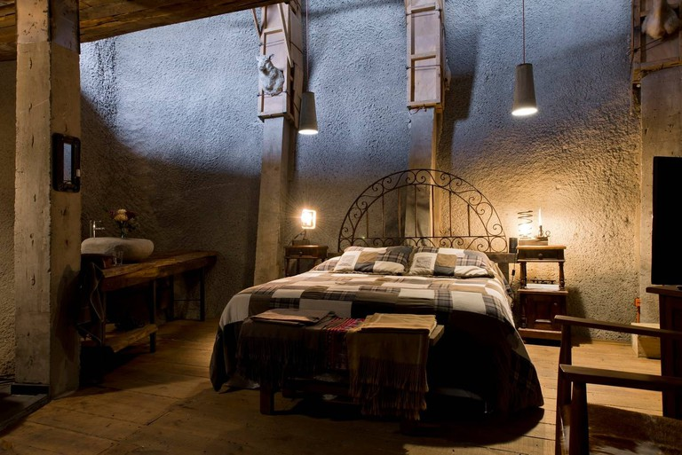 Sleeping in a wine cave