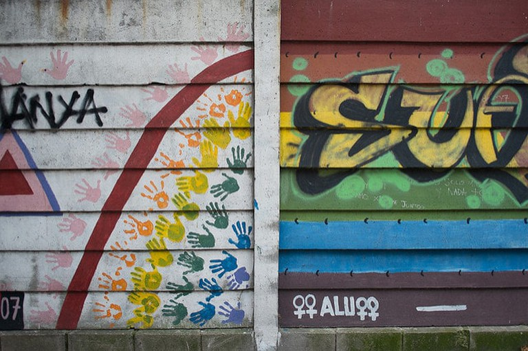 Two murals of Street Art in Ciudad Vieja, Uruguay