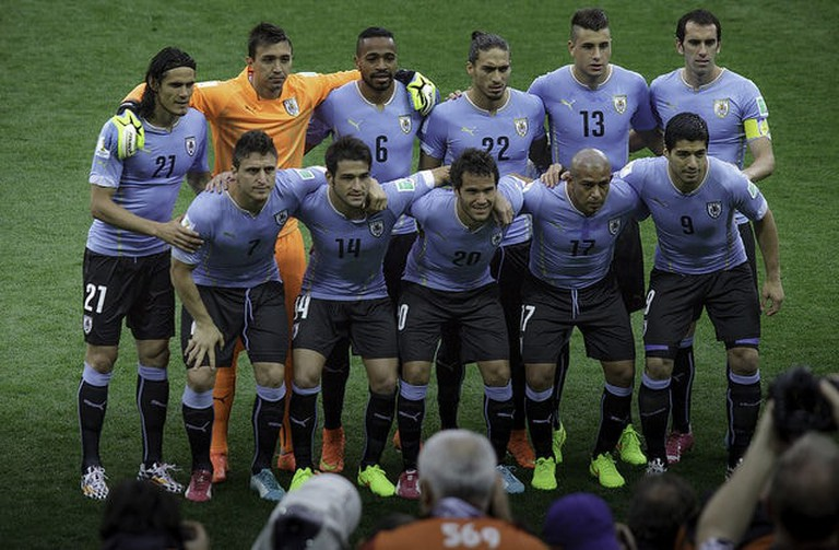 A squad picture of Uruguay's Football Team