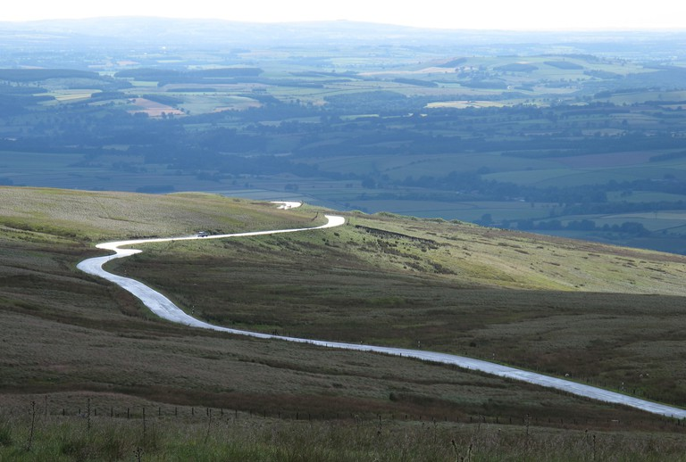 Looking down on the Hartside Pass, A686