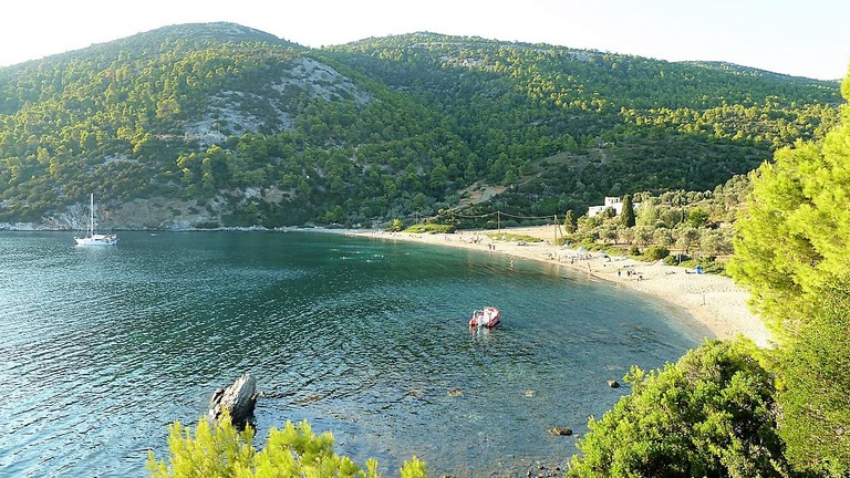 One of the many beaches in Skyros