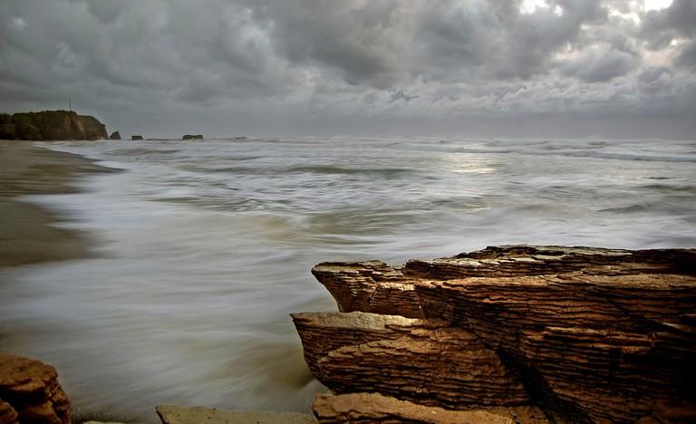 A rugged coastline in New Zealand