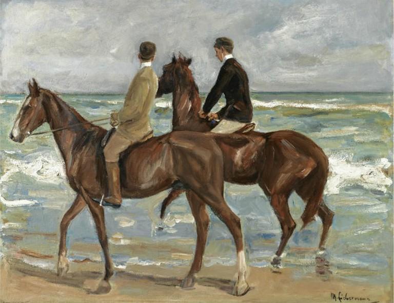 Zwei Reiter am Strand