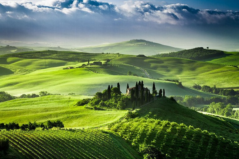 Sunrise in the Valley of San Quirico d'Orcia