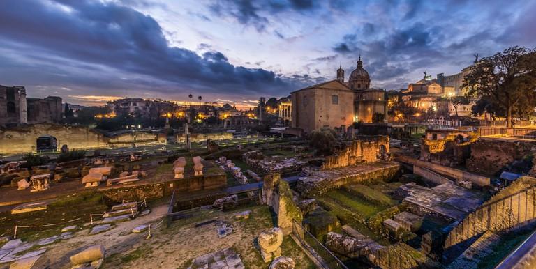 Fori Imperiali at dusk   © Giuseppe Milo/Flickr
