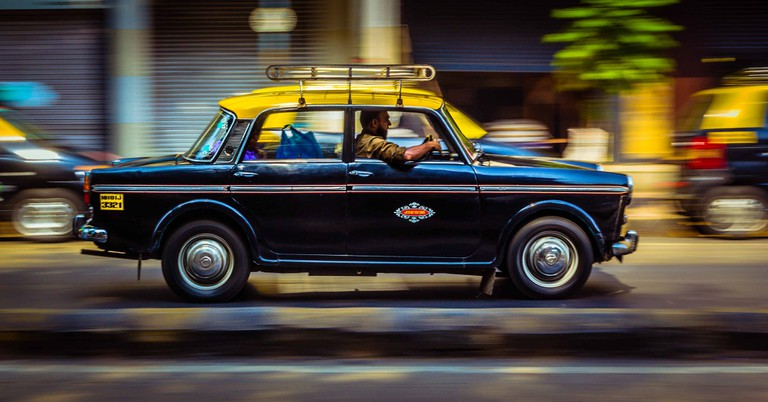 A taxi in India