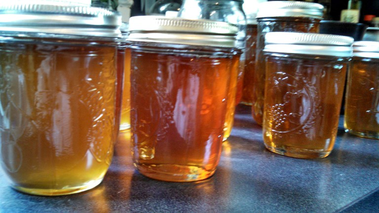 Bottled honey