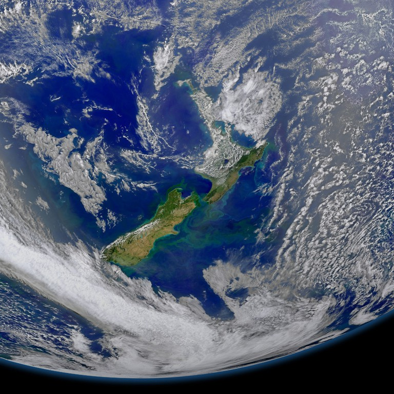 Satellite image of New Zealand