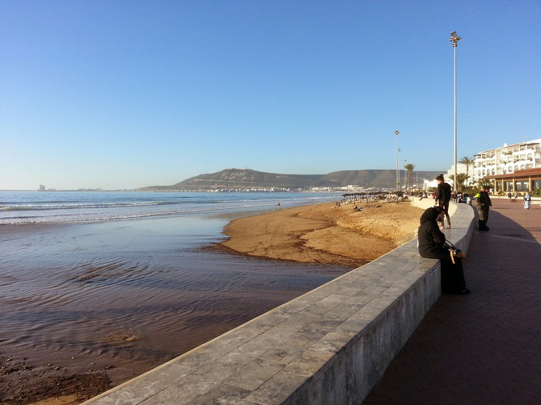 Agadir's corniche