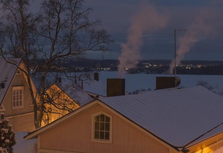 Pispala in winter