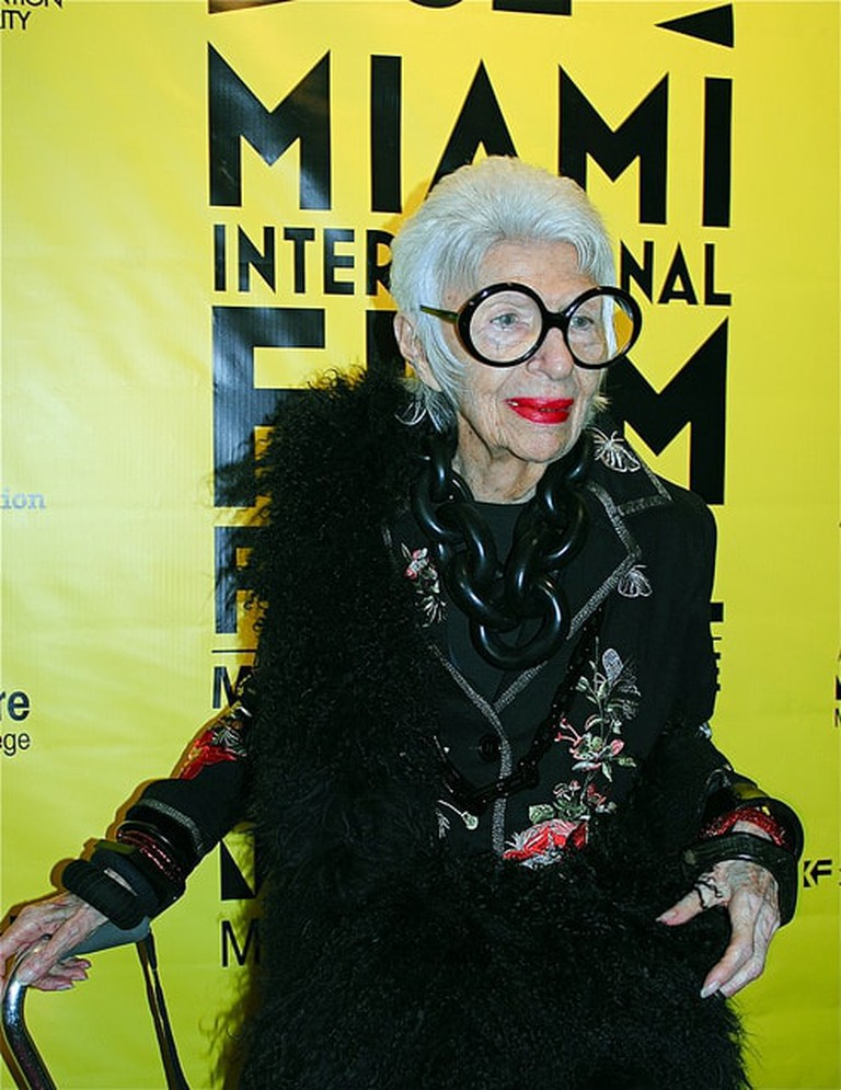 Iris Apfel at O Cinema, Miami Beach