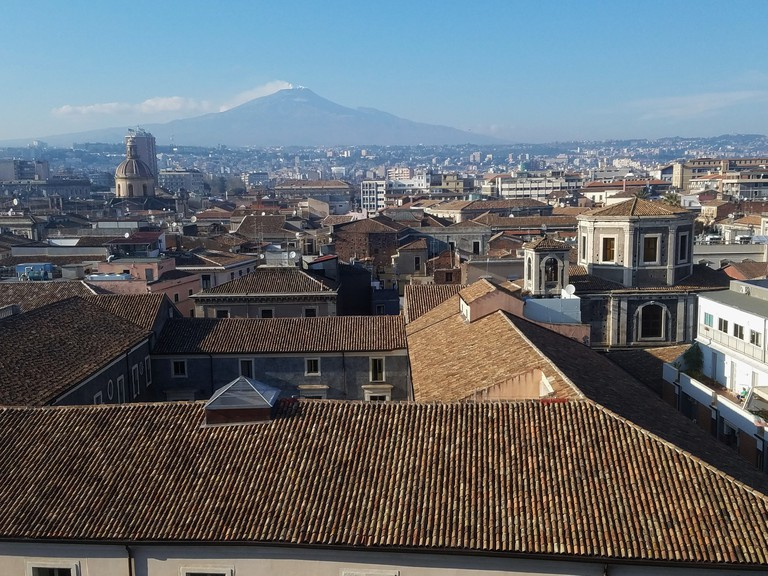 View from Museo Diocesano Catania