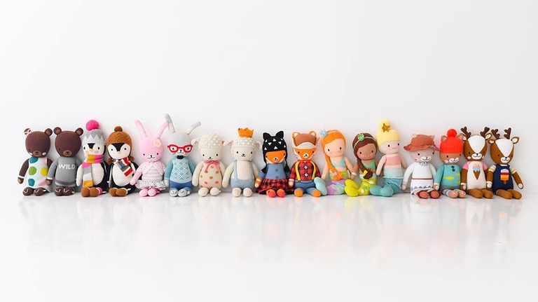Hand-knit toys