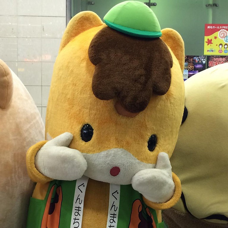 Cute mascots are common in Japan