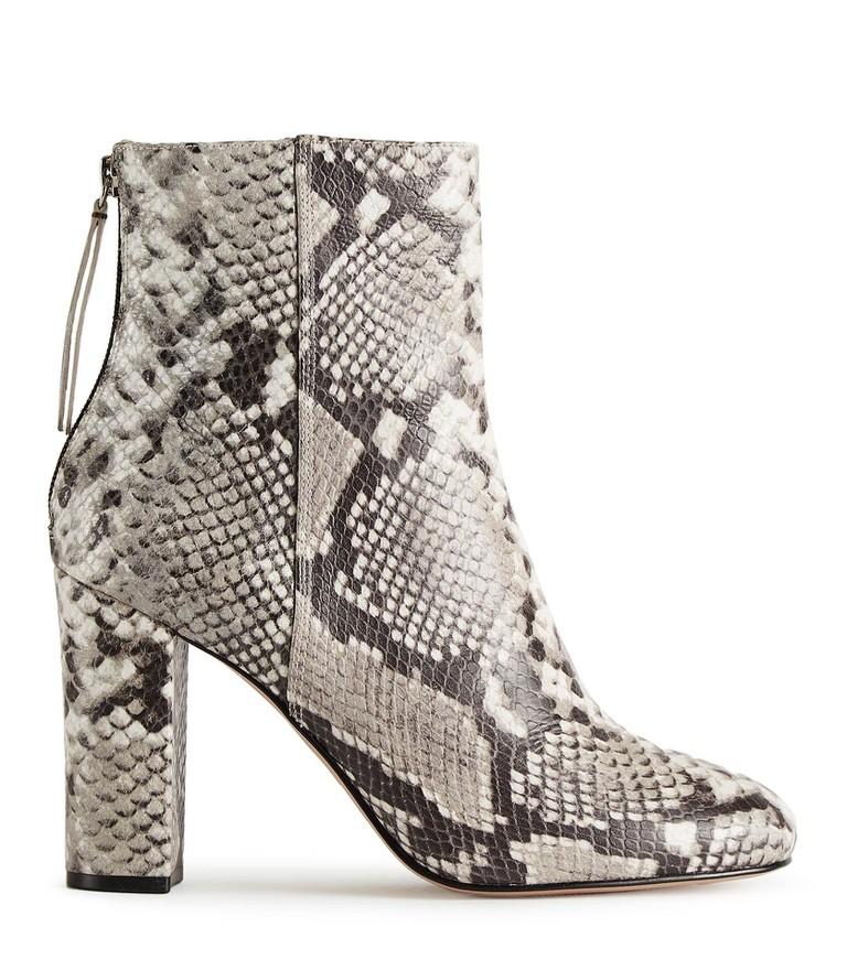 Odelle snake-print ankle boots