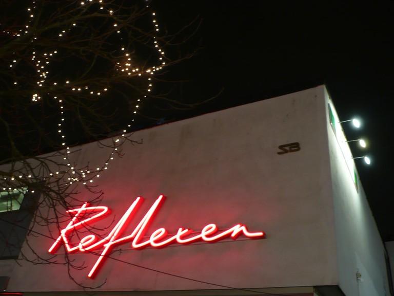 Reflexen's famous neon sign