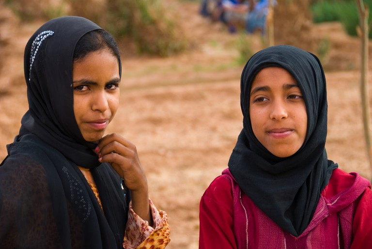 Young women in Morocco