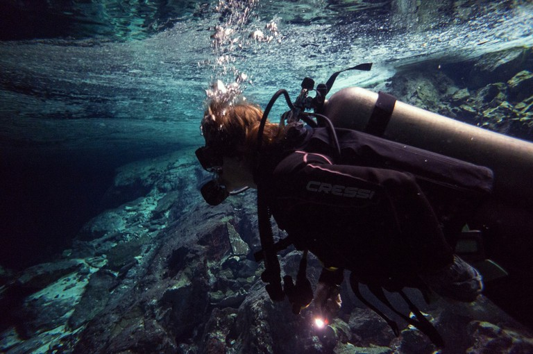Cave Diving in the Yucatan │