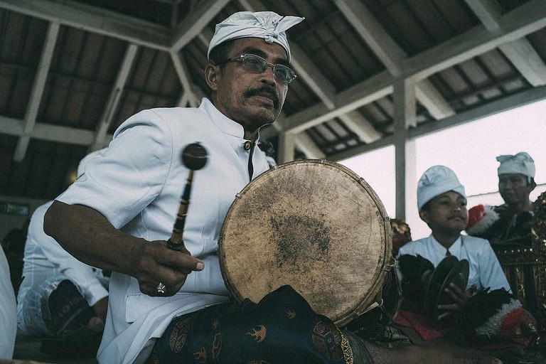 Indonesian traditional music performer