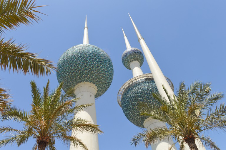 The iconic Kuwait Towers
