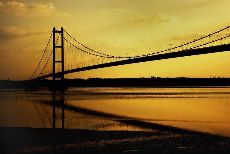 Sunset at Humber Bridge, North Yorkshire