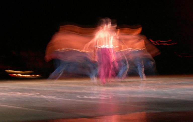 Cuban ballet dancer in motion
