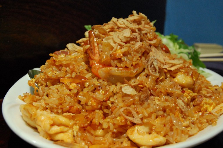 Nasi goreng with seafood