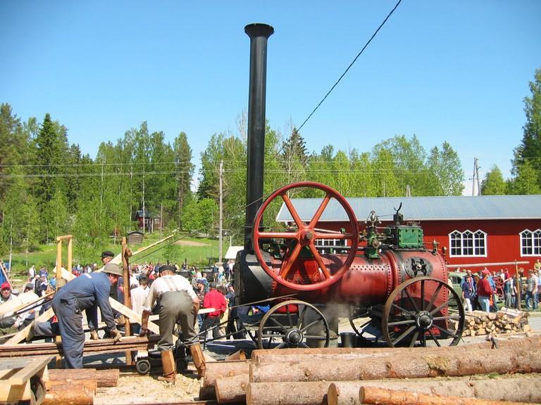 Steam engine in Vesilahti