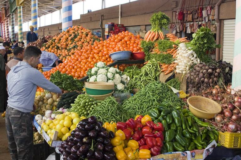 Fresh produce at Souk El Had, Agadir