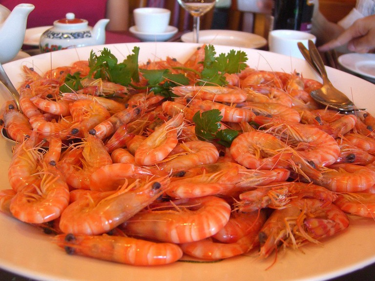 Fresh Boiled Prawns