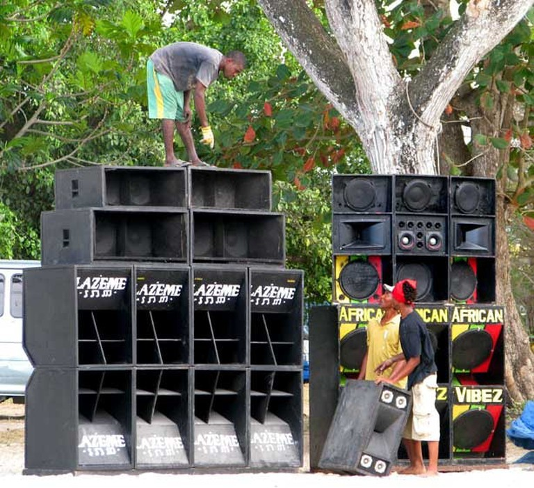 Sound system setup in Jamaica