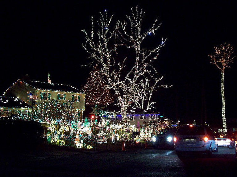 A house decorated for Christmas in Richmond I