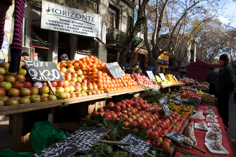 Natural fruit and vegetable market in Uruguay