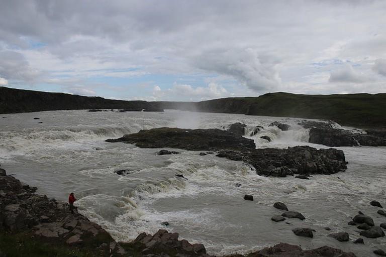 Urriðafoss Waterfall in the Þjórsá River