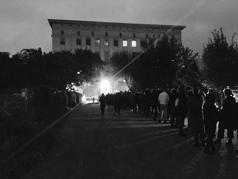 Long line at Berghain