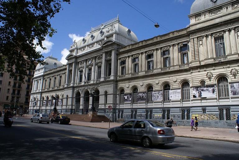A building at Avenue 18 de Julio in Montevideo