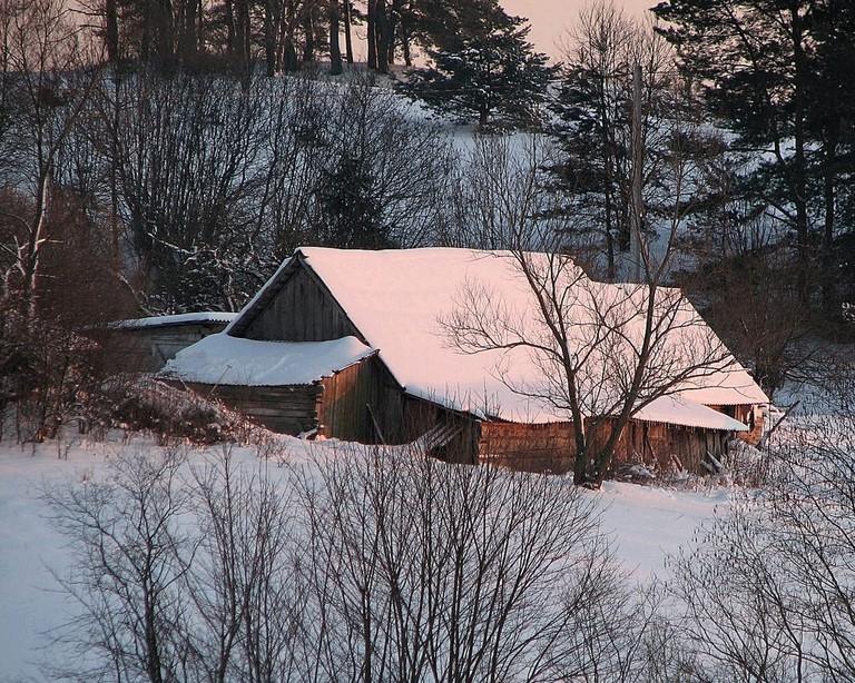 An isolated house near Vilnius, Lithuania