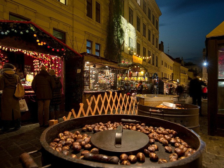 Roasted chestnuts at a Viennese Christmas market