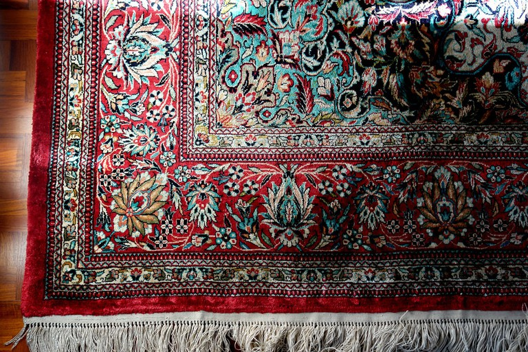 Persian carpets are typically silk or wool