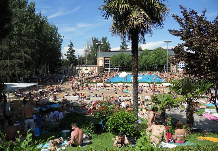 The Casa de Campo's pools are very popular in summer