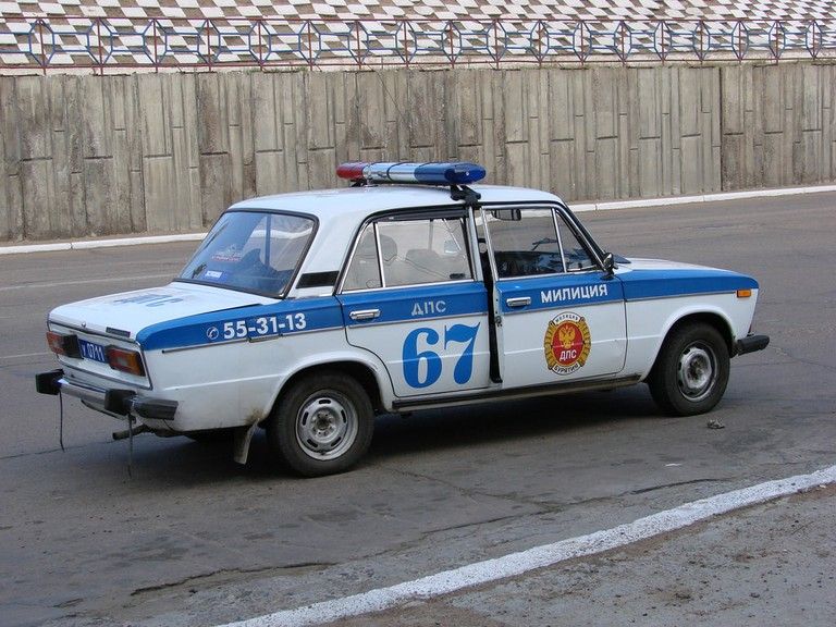 Old Russian Police Car
