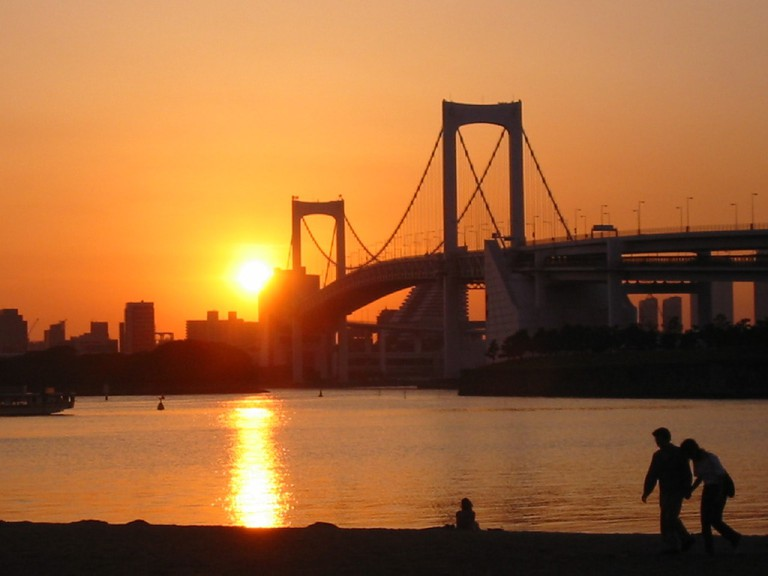 Sunset view from Odaiba