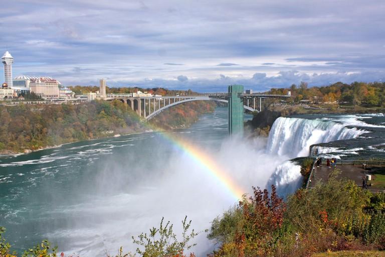 Rainbow in front of Rainbow Bridge