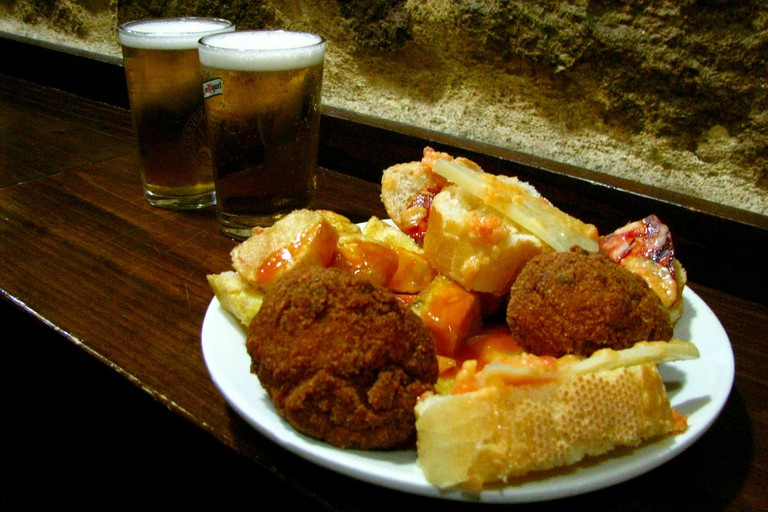 A free plate of tapas at El Tigre, Madrid