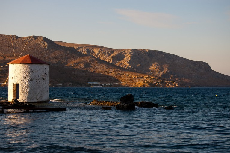 Windmill by the sea, Leros